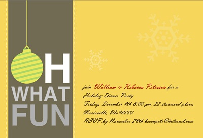 Christmas Party Theme Oh What Fun Holiday Party Invitation